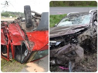 Zrážka dvoch áut pri Lakšárskej Novej Vsi