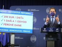 Igor Matovič predstavuje jediný slide svojej daňovo-odvodovej reformy.