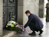 Eduard Heger počas spomienky k 76. výročiu ukončenia druhej svetovej vojny