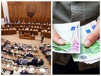 Poslanci sa nemôžu sťažovať na nedostatok financií.
