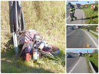 Tragická nehoda motorkára v Beluši