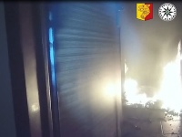 Podpálený byt v Prahe
