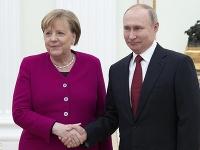 Angela Merkelová a Vladimir Putin