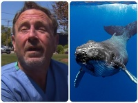 Potápač Michael Packard skončil v tlame veľryby, myslel si, že zomrie.