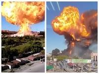 Výbuch bol naozaj obrovský.