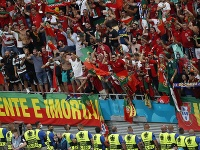 Fanúšikovia na futbale v Maďarsku