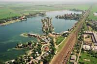 Letecký pohľad na senecké jazerá