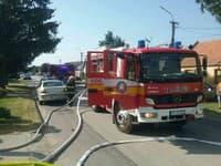 Zásah hasičov v Jaslovských Bohuniciach