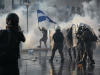 Protest v Grécku
