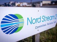 Značka s nápisom Nord Stream 2