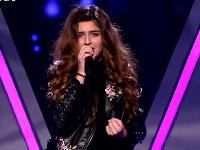 Diana Kalashová v šou The Voice.