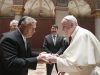 Maďarský premiér Viktor Orbán a pápež František