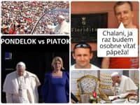 Vtipy vznikli aj na tému pápežovej návštevy a po stretnutiach s našimi politikmi.