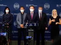 Tlačová konferencia vlády po zvolaní Bezpečnostnej rady