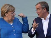 Angela Merkelová a top kandidát volieb Armin Laschet