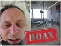 Muž šíril hoaxové video o tom, že je vraj na covid oddelení sám.