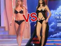 Miss Universe SR 2011 Dagmar Kolesárová a Miss Slovensko Michaela Ňurciková.