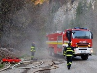 Požiar vypukol aj 10. apríla