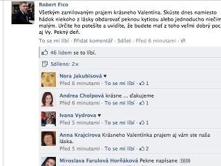 Ficov valentínsky status: Fanúšičky