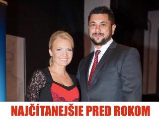 Aneta Parišková s priateľom Mirom.