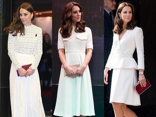 b1c450c6e74d Vojvodkyni Kate Middleton biela farba skutočne pristane. Vo viacerých  bielych šatách je