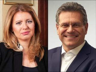Najväčšími favoritmi prezidentských volieb sú momentálne Zuzana Čaputová a Maroš Šefčovič.