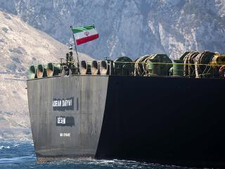 Premenovaný iránsky supertanker Adrian Aryra 1