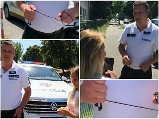 VIDEO drzého policajta trhajúceho