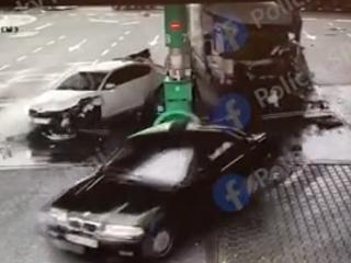 Dopravná nehoda na čerpacej