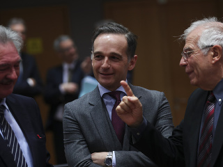 Josep Borrell, Heiko Maas a Jean Asselborn.