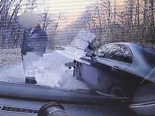 Vodič zastavený na Pezinskej