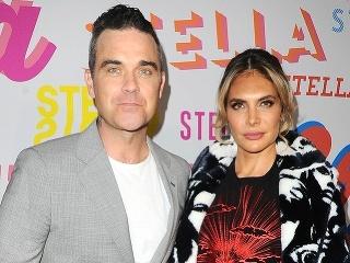 Robbie Williams s manželkou Aydou Field