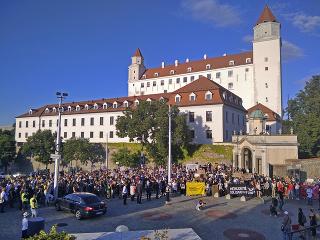 Pochodu v Bratislave sa