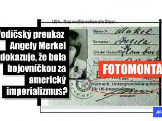 Začiatkom októbra zdieľali stovky slovenských používateľov Facebooku snímku vodičského preukazu Angely Merkelovej