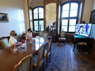 Zuzana Čaputová počas rozhovoru