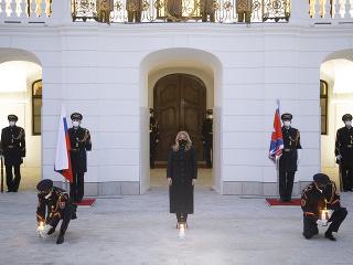 Prezidentka si uctila pamiatku