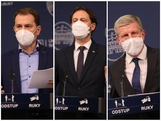 Premiér a ministri na tlačovke