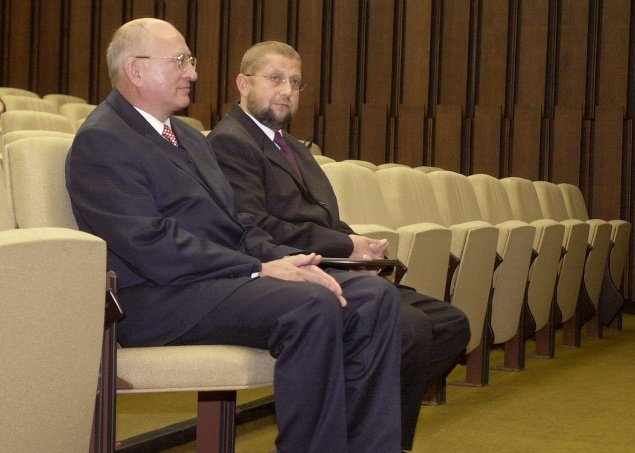 Štefan Harabin (vpravo) a