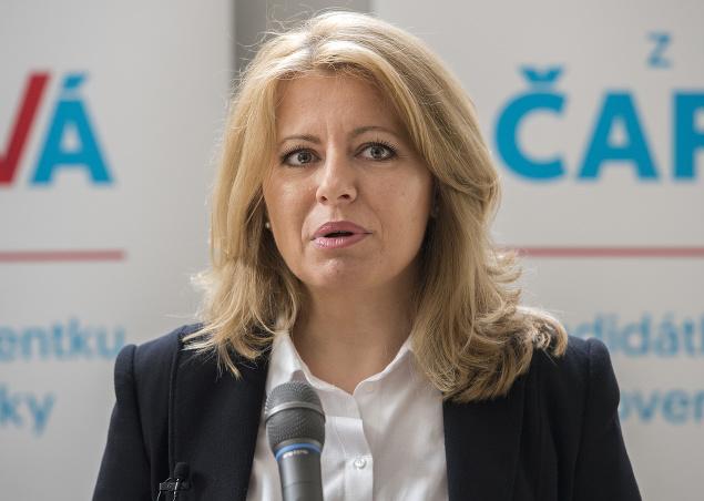 Zuzana Čaputová počas tlačovej