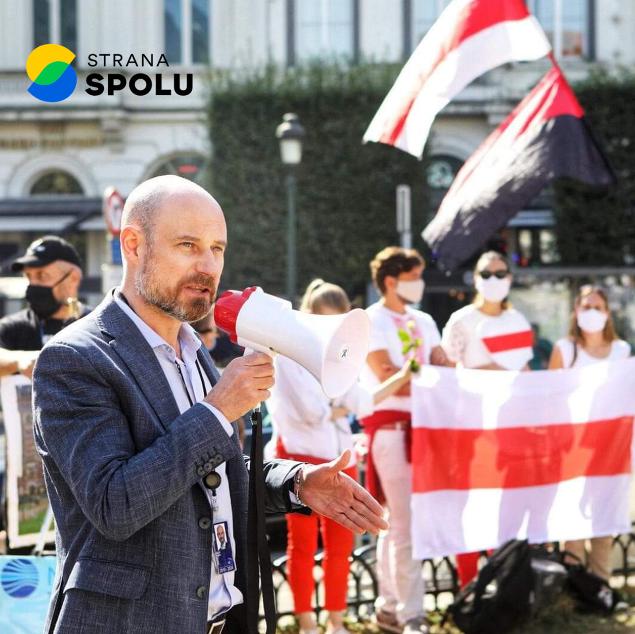 Vladimír Bilčík na proteste