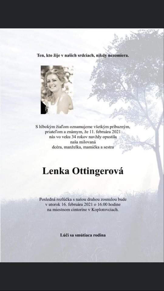 Srdcervúci príbeh! Lenka (†34)