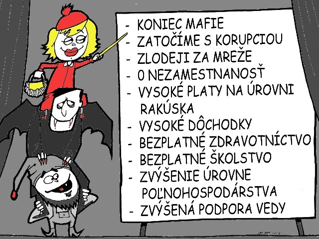 šťastný sex karikatúra