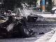 Výbuch auta pred ministerstvom