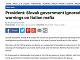 Slovenská vláda ignorovala varovania