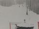 V Alpách sneží.