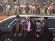 Donald Trump počas návštevy