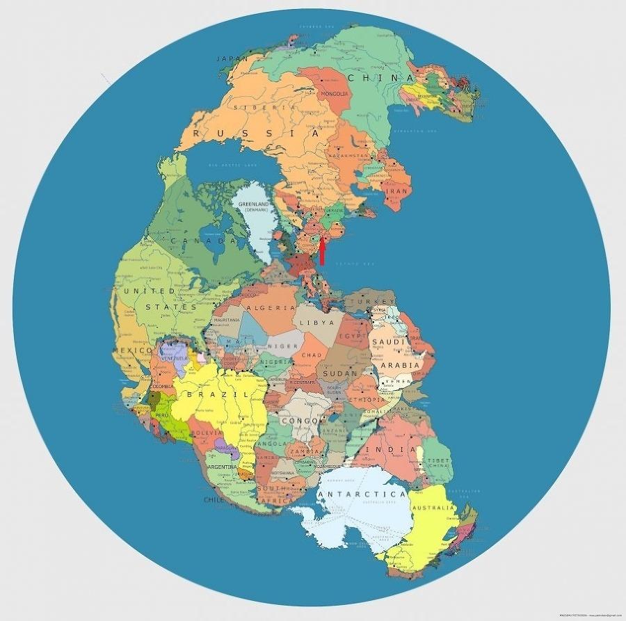 Pangea s politickým usporiadaním