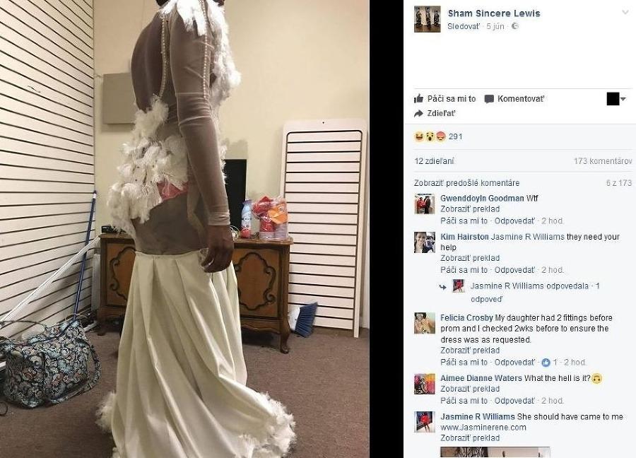 0e7e0db3b092 Matka dala ušiť dcére (18) šaty na ples  FOTO katastrofy