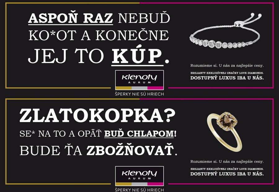dc245bd41 Slovákov šokovala kontroverzná kampaň na šperky: Firma obhajuje ...