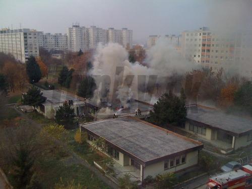 Požiar na Znievskej ulici